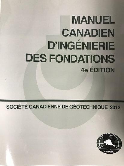 Manuel Canadien D'Ingenierie Des Fondations