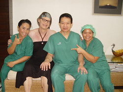 Mona and Dr. Chettawut and 2 members of the nurse staff