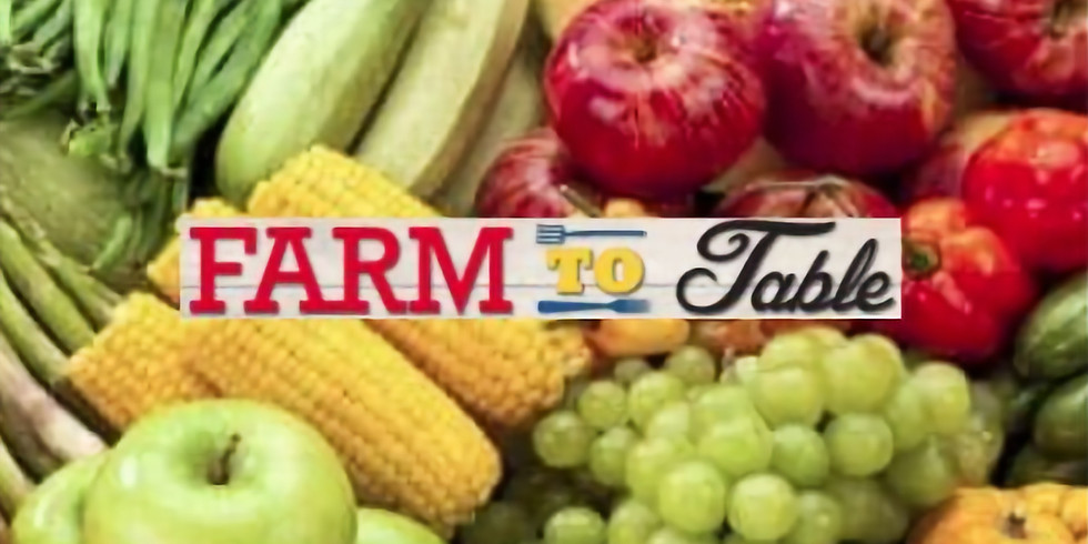 3rd Annual Farm to Table - Honoring Livestock Auction Buyers