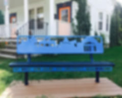 Sit Back and Enjoy Bench - Art project funded by the Lively-hood! Foundation