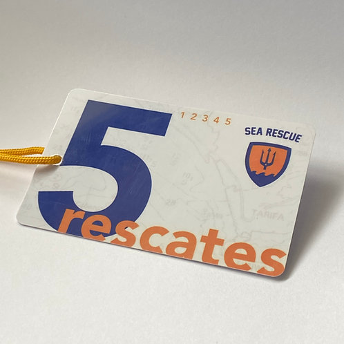 Card for 5 rescues