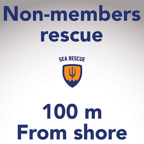 Non-member rescue 100 m