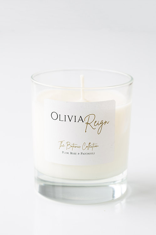 Plum, Rose & Patchouli Scented Candle