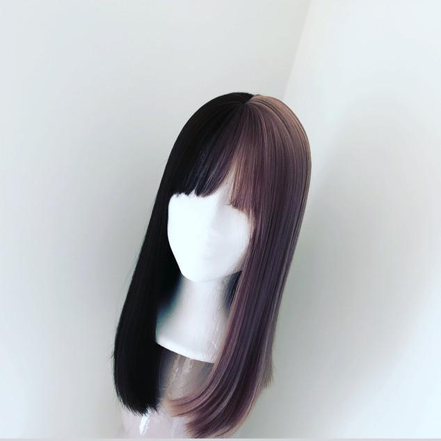 tofarvet-paryk-wig.JPG
