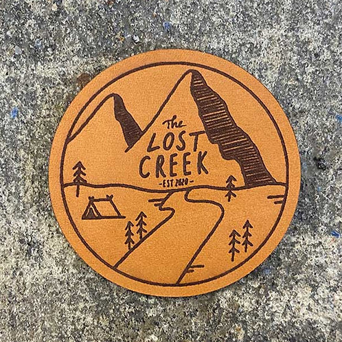 Original Lost Creek Engraved Leather Patch