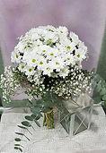Precioso ramo de margaritas en color blanco para enviar a domicilio desde valencia de la floristeria la alqueria