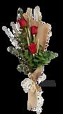 Ramo de rosas con tres unidades, para regalar y enviar en valencia desde floristeria la alqueria