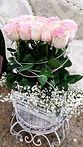 Caja con rosas en color rosa
