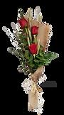 Elegante ramo de rosas rojas con tres rosas en su composicion desde floristeria la alqueria de valencia
