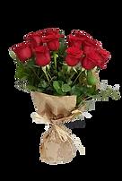 12 rosas rojas en un precioso ramo de rosas