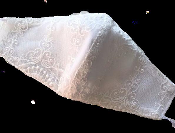 Mascarillas hechas por modistas para que complementen el traje de novia que as elegido