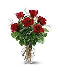 con este ramo de seis rosas rojas podra dar emocion y alegria a esa persona tan especial
