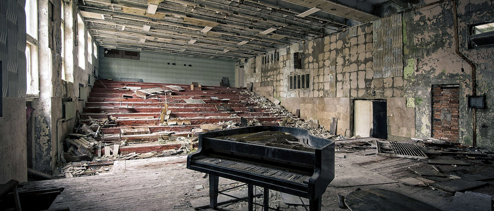 Piano old hall Chernobyl Taken By Me Photography