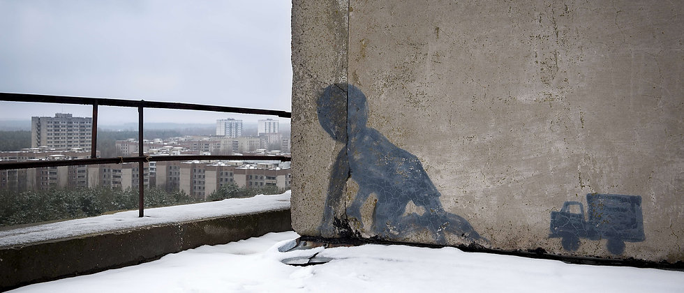 Wall art rooftop Chernobyl Taken By Me Photography urban explorer exploring derelict abandoned