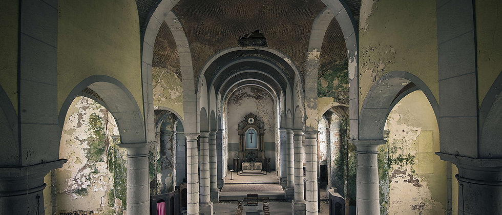 Church of Decay abandoned derelict building arches Taken By Me Photography Urban Explorer exploring