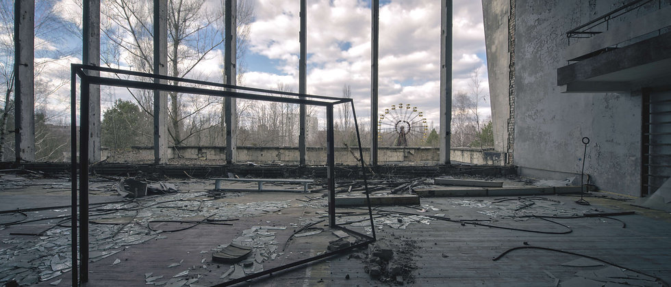 Abandoned Gym Sports Hall School Pripyat Chernobyl Taken By Me Photography