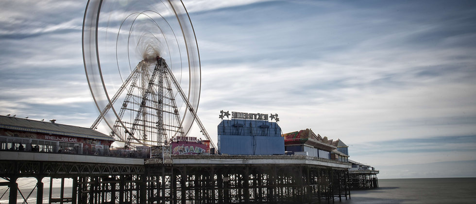 Blackpool Ferris Big Wheel Pier North Central Long Exposure Taken By Me Photography Lancashire Sea Sand Front