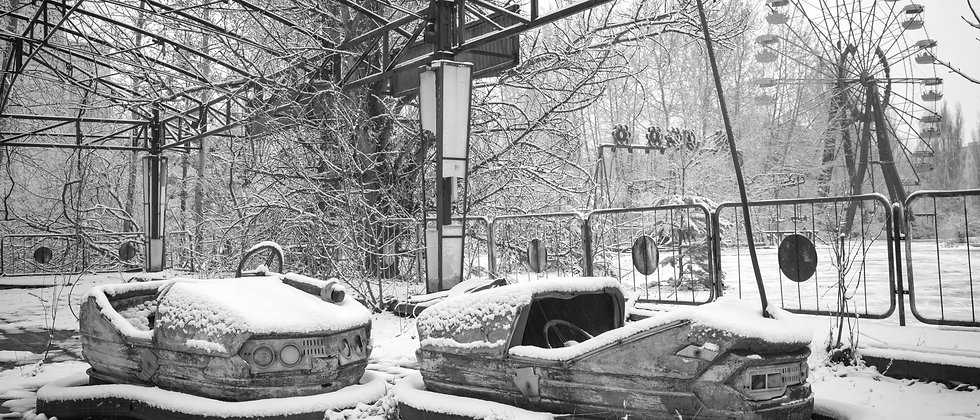 Abandoned Dodgem Cars Ferris Wheel Pripyat Chernobyl Taken By Me Photography