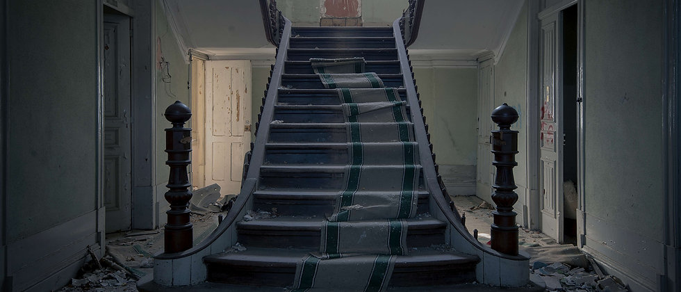 steps stairs hotel nice large grand carpet taken by me photography UK urban explorer exploring derelict abandoned portugal