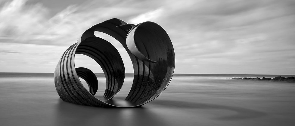 Marys Shell Cleveleys Sea Sand Black White Photo Photographer Lancashire Blackpool Taken by Me Photography
