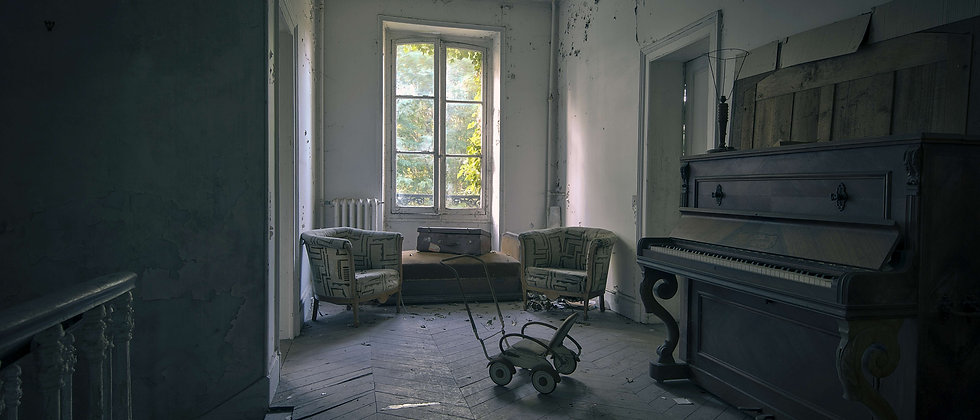 Hush Little Baby Pram Pushchair Abandoned House Home Mansion Music Photographer Taken By Me Photography