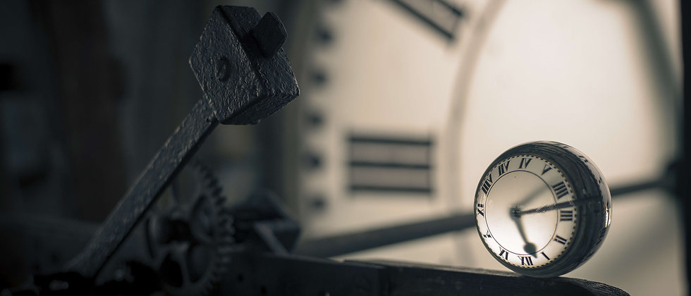 Clock time hammer tower taken by me photography goes by as glass ball abandoned derelict