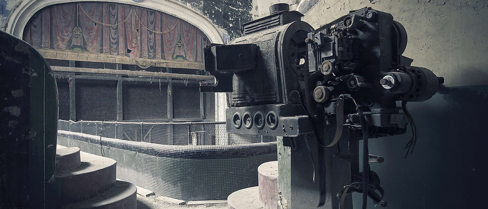 Abandoned Theatre Cinema Derelict Projector Taken By Me Photography