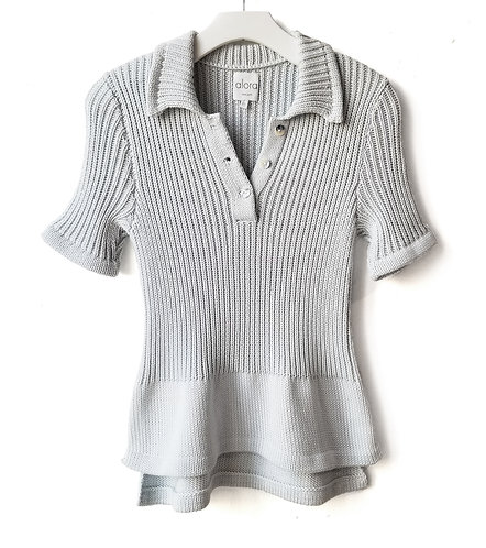 Ribbed Polo Sweater