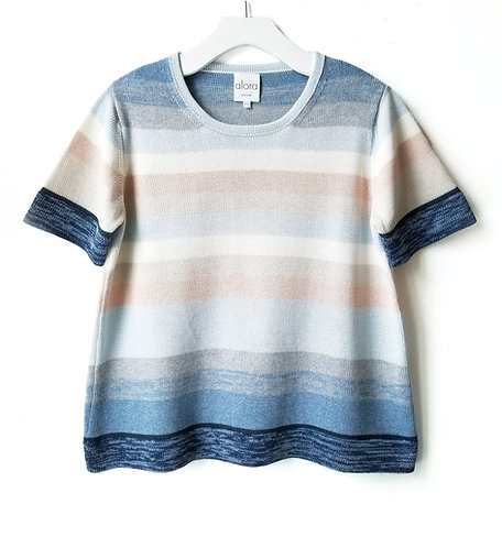 Striped Short Sleeved Sweater
