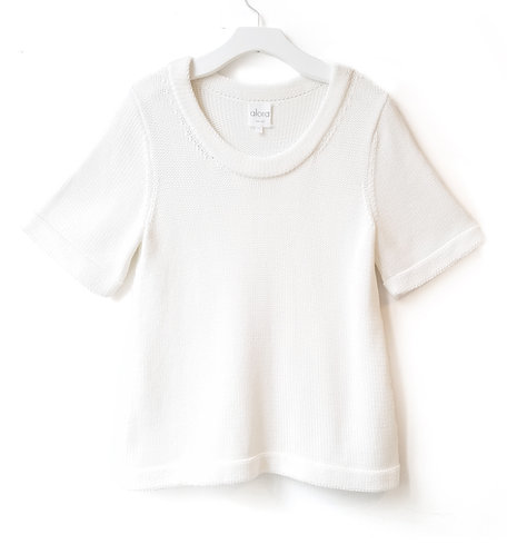 Chunky Short-sleeved A-Line Sweater