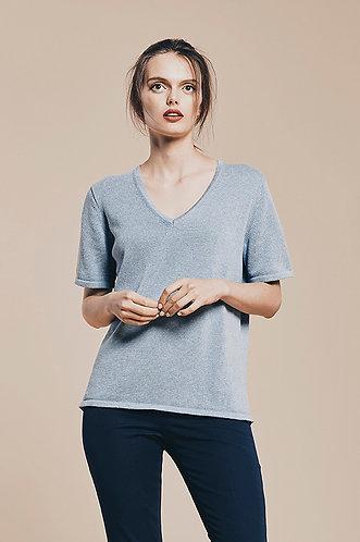 V neck T sweater