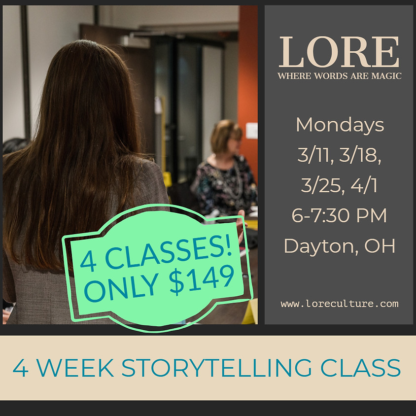 4 Week Storytelling Class