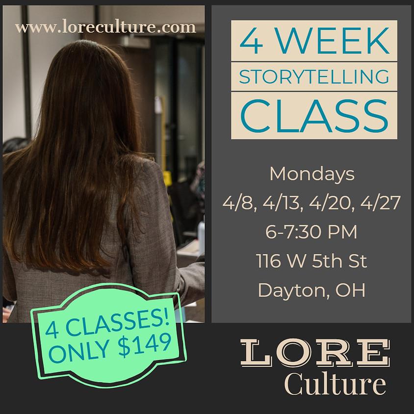 4 Week Storytelling Class (April 2019)