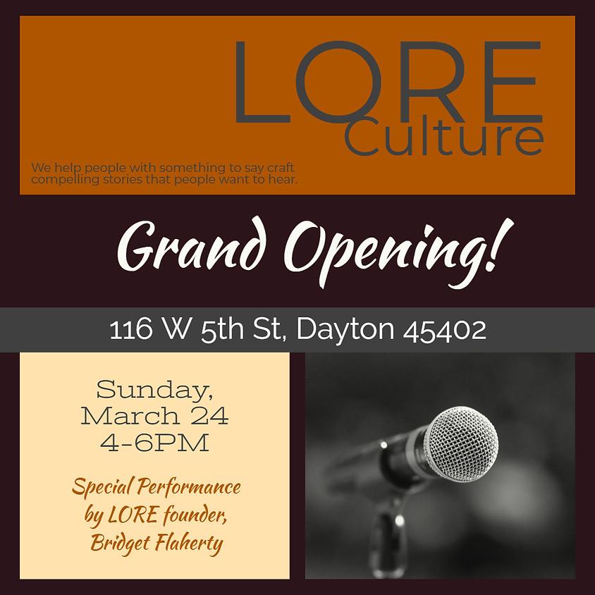 LORE Culture Grand Opening