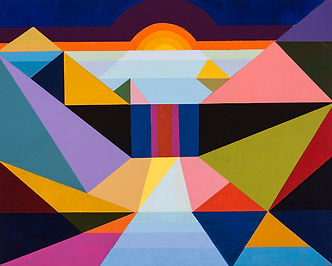2020 John Barnes, White Nile Blue, acryl