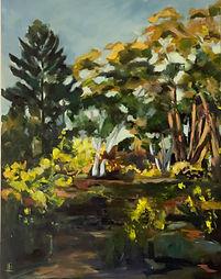 Wattle Time, Hill End. 78 x 98 cm.  Oil