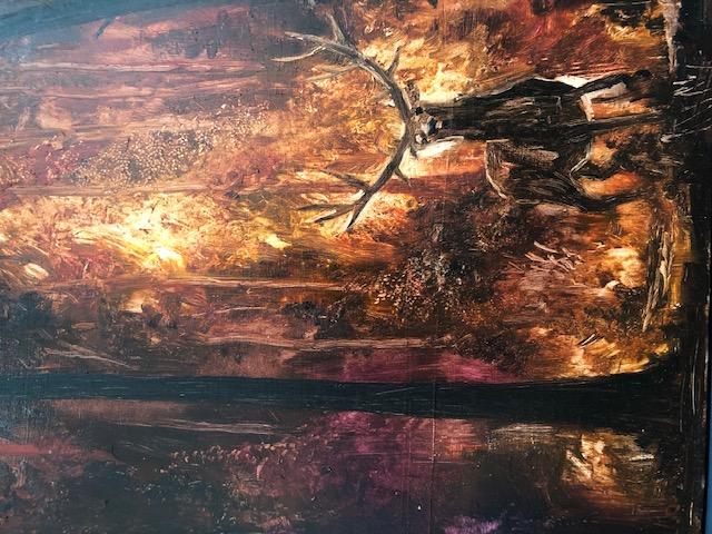 Peter Gardener - Feral Study - oil on ca