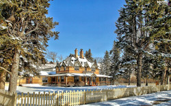 viewes-fance-trees-winter-estate-house