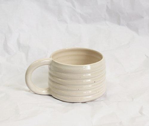 Ridge Mug in White