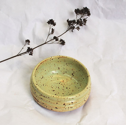 Ridge Dish in Speckled Lime