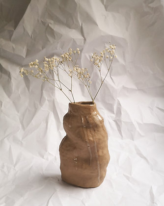 Small Clay Bluff Vase