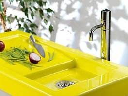 colorful-neon-yellow-sink-and-counter-to