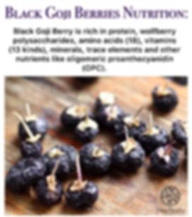 black goji berry nutrition