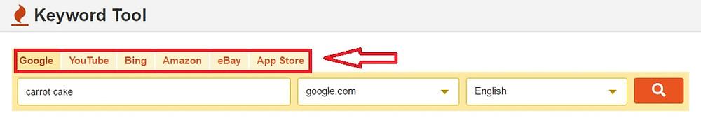 keyword tool screenshot