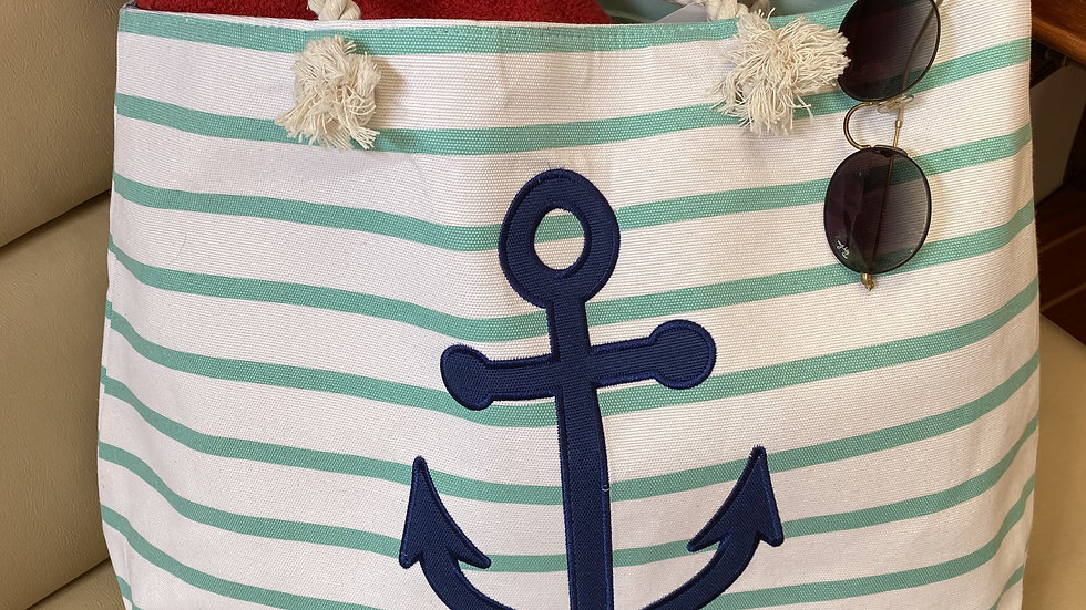 Teal Canvas Bag