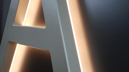 Reverse Lumin-Edge channel letter