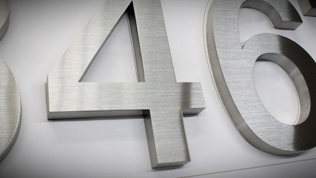 Brushed SS Dimensional Letters