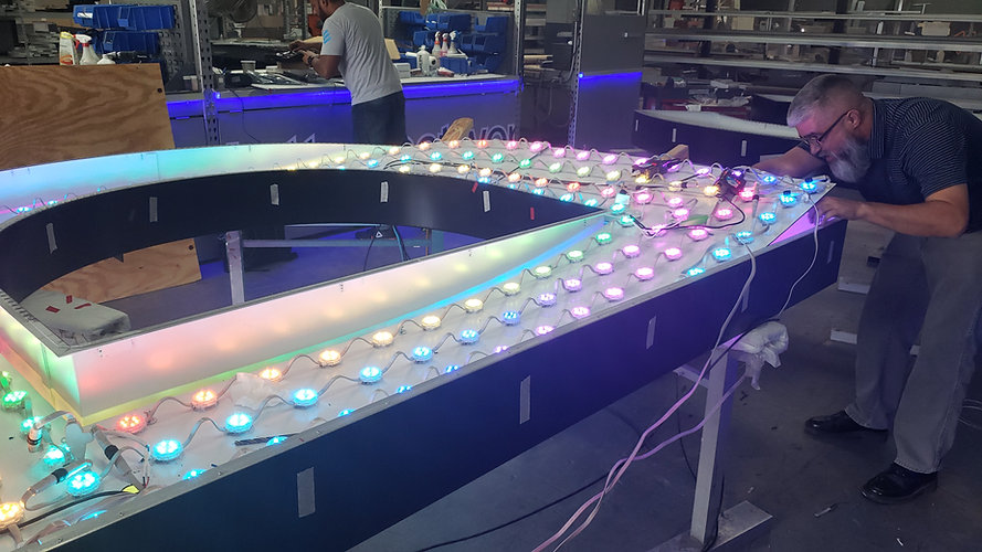 DMX RGB High-Rise Channel Letters