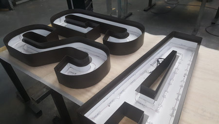 Custom Recessed Faced Channel Letters