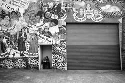 Man Smoking,  Women Mural